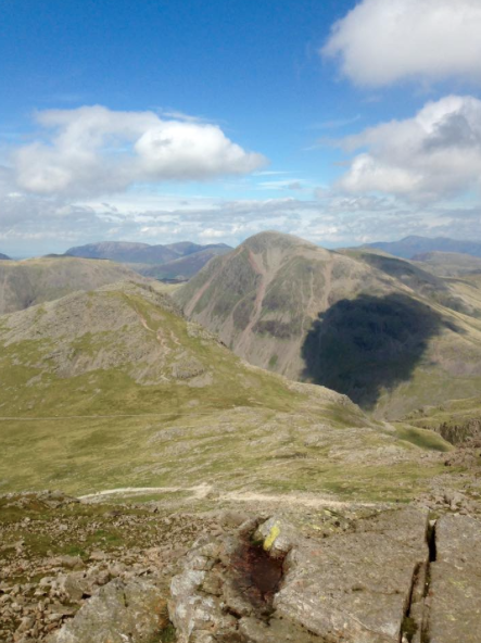Great Gable from near the summit of Scafell Pike