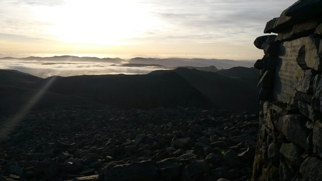 Scafell-pike-summit-at-sunrise-3-peaks-challenge-guided-walk