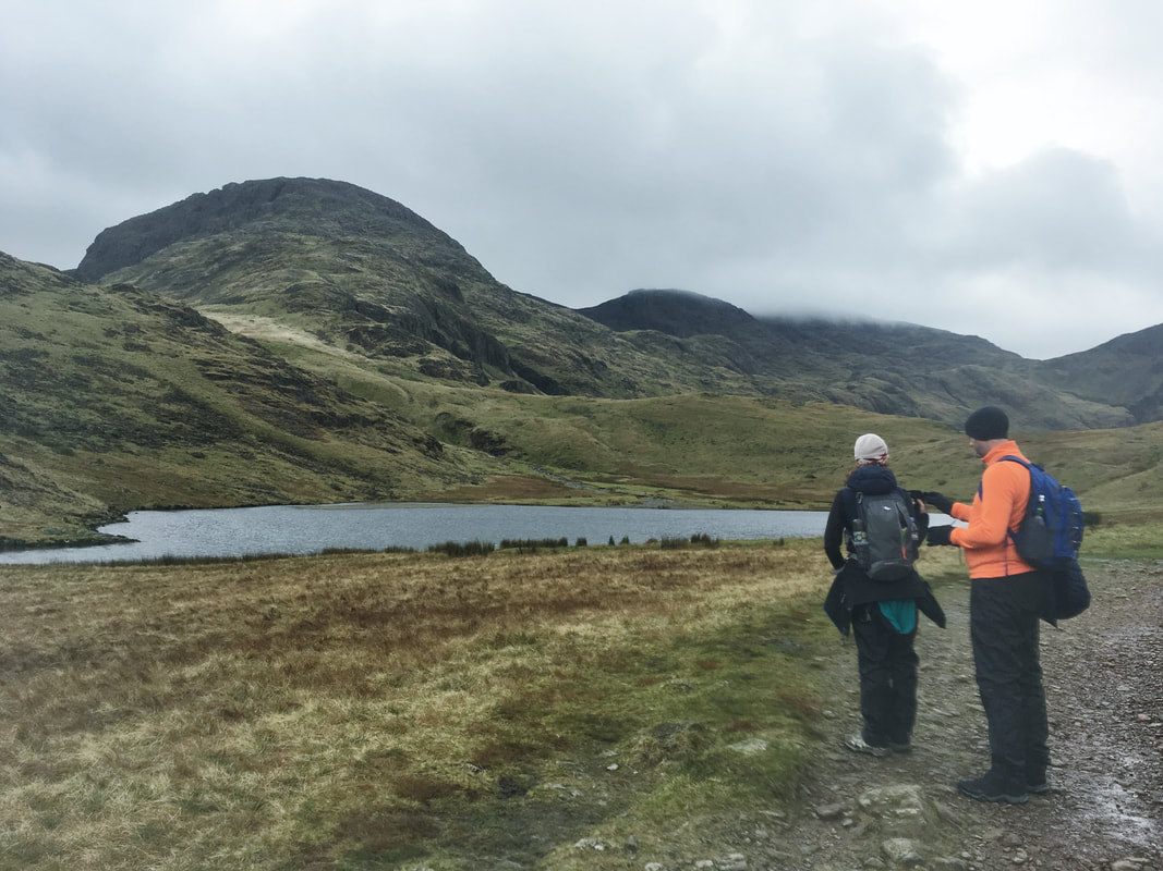 Walking-up-Scafell-Pike-from-borrowdale