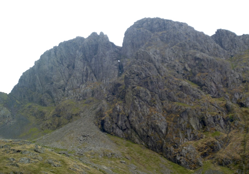 Scafell crag from Hollowstones