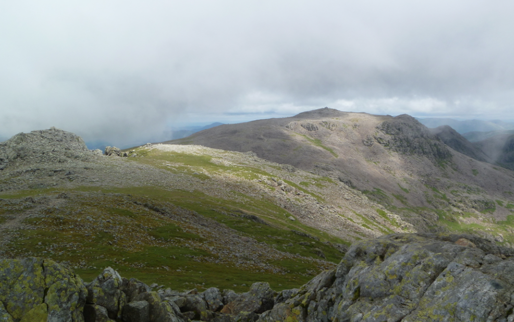 Looking over to Scafell Pike from Scafell